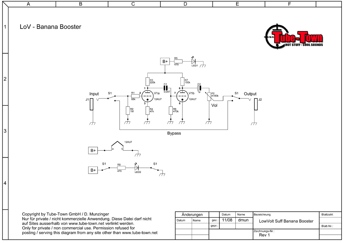 Tube-Town GmbH – Banana Booster (engl) on boost pedal pcb, turbocharger schematic, boost pedal placement, klon schematic, compressor schematic, guitar switcher schematic, ibanez tube screamer schematic, boost controller schematic, boost pump schematic, lpb-1 schematic, amp selector schematic, distortion schematic, fender blender schematic, equalizer schematic, 11 amp schematic, pneumatic jack hammer schematic, npn schematic, pressure regulator schematic, colorsound power boost schematic, boost regulator schematic,
